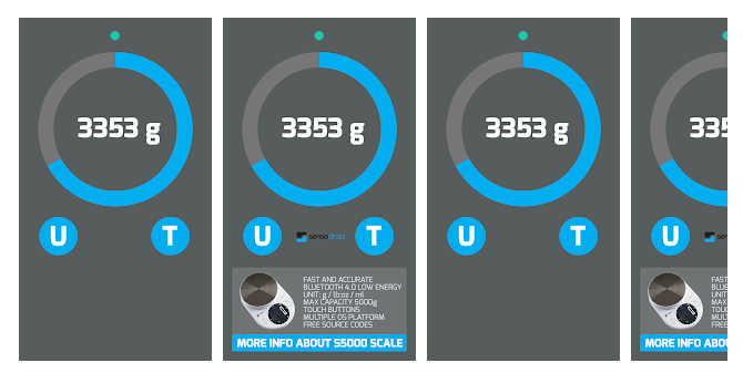 3 Digital bluetooth Scale S5000 connection test app