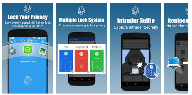 6 App lock - Real Fingerprint, Pattern & Password