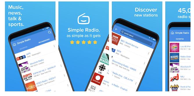 3 Simple Radio – Free Live AM FM Radio & Music App